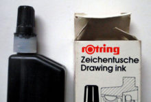 L'encre de Chine, India ink (made in germany).